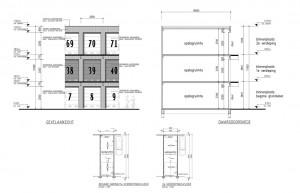 Bouwtekeningen garageboxen complex Amersfoort