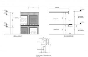 Bouwtekening garageboxen complex Haarlem